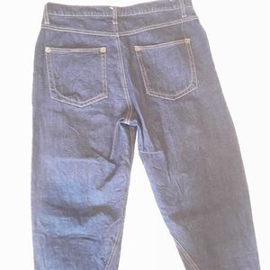 WHEART Pants & Jumpsuits - W HEART BAGGY BLUE CROPPED JEANS